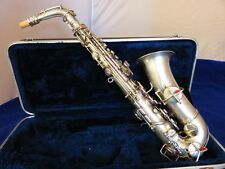 CONN CHU BERRY SILVER ALTO SAXOPHONE, BEAUTIFULLY RESTORED!