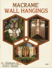 Macrame Wall Hangings Vintage Pattern Book Larger Projects NEW 1977