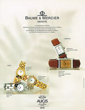 PUBLICITE ADVERTISING 094  1998  BAUME & MERCIER  coll montres HAMPTON & LINEA