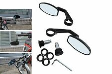 Quality BLACK CNC Machined Bar End Mirrors for Laverda Cafe Racer Project PAIR