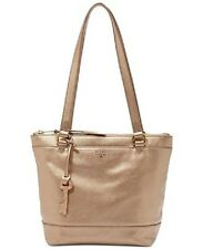 NEW!  FOSSIL GIFT PALE ROSE GOLD LEATHER SMALL SHOPPER TOTE PURSE ZB6703682