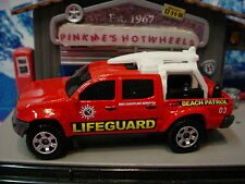 2014 Matchbox TOYOTA TACOMA truck∞Red;Lifeguard Beach Patrol∞HEROIC RESCUE∞Loose