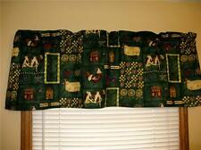 COUNTRY SHEEP COWS TRACTORS ROOSTERS CURTAIN VALANCE