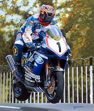 David Jefferies Suzuki 2003 Isle of Man TT Motorcycle Racing Motorbike Art Print