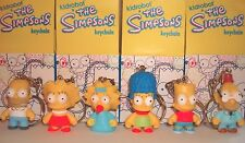 "Kidrobot Simpsons 1.5"" Keychain Vinyl Figures Family Set of 6 Bart Homer Maggie"