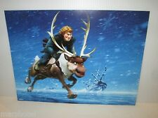 "DISNEY FROZEN MOVIE 2 SIDED MINI POSTER 12""X16"" ICY ARENDELLE & KRISTOFF & SVEN"
