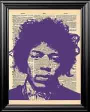 JIMI HENDRIX UPCYCLED VINTAGE DICTIONARY PAGE WALL ART PRINT - UNIQUE ARTWORK!