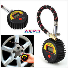 Motorcycle Car Bike 300 PSI Digital Tire Tyre Air Pressure Gauge Meter Tester