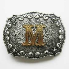 "NEW  3-D INITIAL "" M ""  RODEO COWBOY WESTERN BELT BUCKLE"