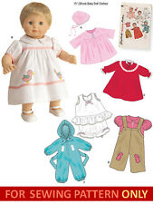 "SEWING PATTERN! MAKE VINTAGE STYLE DOLL CLOTHES! FITS BITTY BABY~15"" BABY DOLLS!"