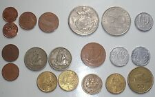 Lot 19 coins with sea themes, boats, dolphins
