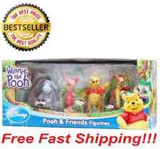 "NEW! DISNEY WINNIE THE POOH 2"" FIGURE SET OF POOH, EYEORE, PIGLET TIGGER Toy"