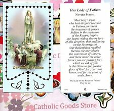Our Lady of Fatima - Our Lady of Fatima Novena Prayer  - Paperstock Holy Card