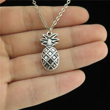 "1-3 18"" Silver Collar Chunky Girl Necklace Child Fruit Food Pineapple Pendant"