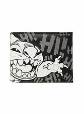 Disney Lilo & Stitch Black & White Stitch Bi-Fold Wallet Hi Aloha Faux Leather