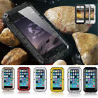 Waterproof Shockproof Aluminum Gorilla Glass Metal Case Cover For iPhone Model