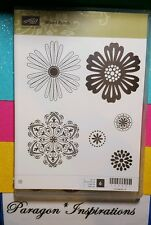 Retired Stampin Up MIXED BUNCH Matches Blossom Punch Flowers Medallions