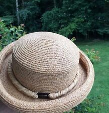 Liz Claiborne New With Tags Straw Derby Bucket Church Dress Summer Fall Hat /