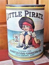 Tin Can Bank Vintage-style Food Retro 1930's Little Pirate Brand Peaches