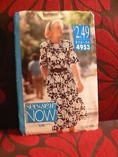 Vintage Uncut Sewing Pattern See & Sew NOW 4953 Womens Dress Plus Size 16-24