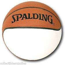 6 OFFICIAL NBA SPALDING MINI BASKETBALLS ONE PANEL AUTO