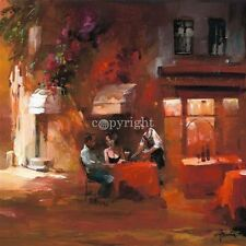 Willem Haenraets: Dinner for two III Toskana Fertig-Bild 50x50 Paar Romantik