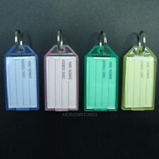 40pcs Porte-clés Coloré Plastique Anneaux Bagages Label Etiquettes Anti-vol