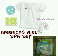 NEW American Girl Spa Deluxe Goody Bag Set Robe Slippers Mask Cucumbers for Doll