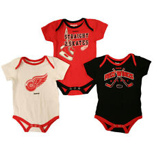 NHL Detroit Red Wings 3-pack Body Suit Set-18 Months