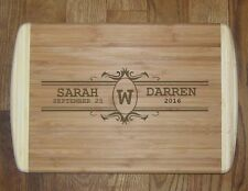 """Monogrammed Personalized Wedding Cutting Board Great Gift 12X18"""" Large"""