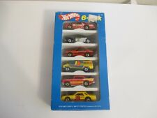 NIB VTG 1979 HOT WHEELS 6-Pak Mattel Car 57 Chevy Dodge Ford Cobra Sheriff Van