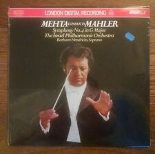 Mehta Conducts Mahler SEALED LP London LDR10004 FFRR Israel Hendricks Audiophile