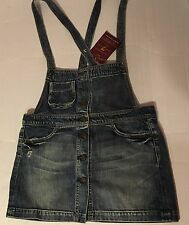 NWT 7 Seven for all Mankind Overall Skirt Denim Jean Sz S