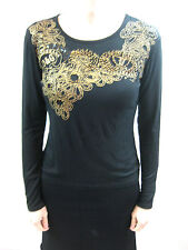 Dolce & Gabbana Size M or 12 Black Casual Long Sleeved Top