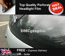 30x107cm Perforated Car Window Fly Eye Headlight Film Mesh One Way Vision Wrap
