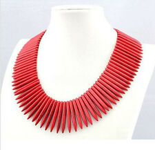 Woman Necklace Howlite Red Turquoise Needle Pin Choker 18inch