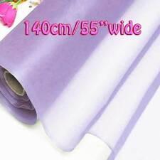 7 Yards Orchid Bloom Pure Silk Organza Bridal Dress Fabric 140cm W