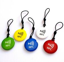 5 pcs NFC Tags Higher Memory NFC tag key chain , Univarsal NFC Hang tag