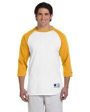 Champion Mens 3/4 Sleeve Baseball T-Shirt S-3XL Raglan Jersey Tee T137-T1397 NEW