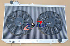 For LEXUS GS300 / TOYOTA ARISTO 2JZGE 1993-1997 Aluminum Radiator + Fans