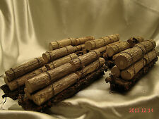 6 Logging Cars- most beautiful weathered, handcrafted -new- original look-lot 5