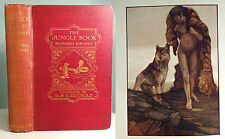1908 The Jungle Book DETMOLD First Edition ILLUSTRATED Antique Book Kipling