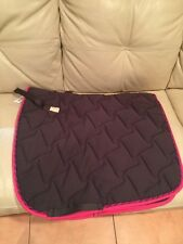 Equine Couture Ingate Dressage Saddle Pad Grey And Hot Pink