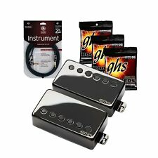 "EMG JH James Hetfield ""Het"" Pickup Set Black DLC + 3 Sets of Strings + Cable"