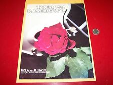 1984 UCLA vs ILLINOIS ROSE BOWL PROGRAM FOOTBALL BRUINS FIGHTING ILLINI