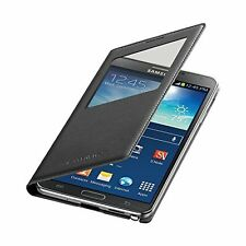 Samsung Galaxy Note 3 Case S View Flip Cover Folio - Black - Missing chip*