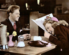 "MICKEY ROONEY JUDY GARLAND BABES ON BROADWAY 8x10"" HAND COLOR TINTED PHOTOGRAPH"