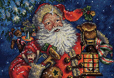 Cross Stitch Kit ~ Gold Collection Christmas Nighttime Santa Claus #70-08865
