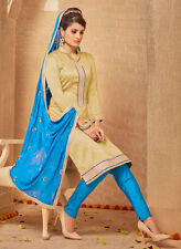 Designer Banarasi Silk Salwar Kameez Ivory Color Unstiched Party Wear Material