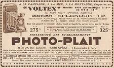 Y7083 PHOTO-PLAIT - Appareil Voltex - Pubblicità d'epoca - 1934 Old advertising